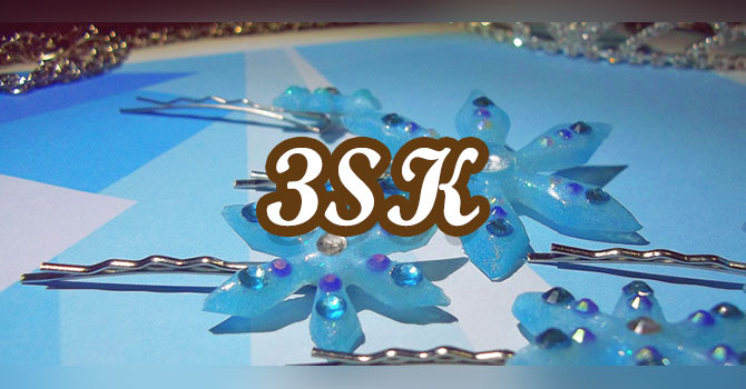 Elsa Snowflake Hairpins Tutorial (Custom Shapes in Resin)