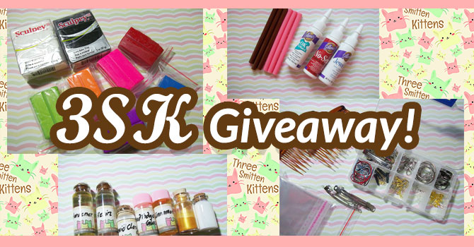 3SK Giveaway! Win Polymer Clay and Craft Stuff! Read For Details