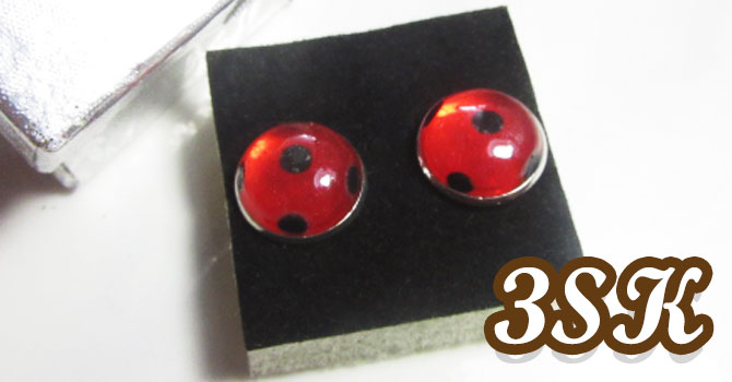 Tutorial: Miraculous Ladybug Earrings